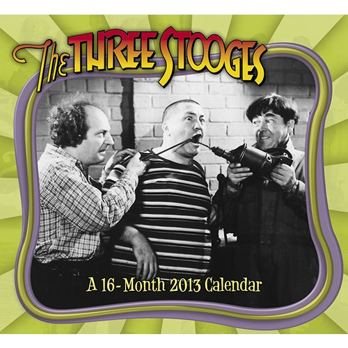 The Three Stooges 2013 Wall Calendar   Classic TV   CALENDARS.COM