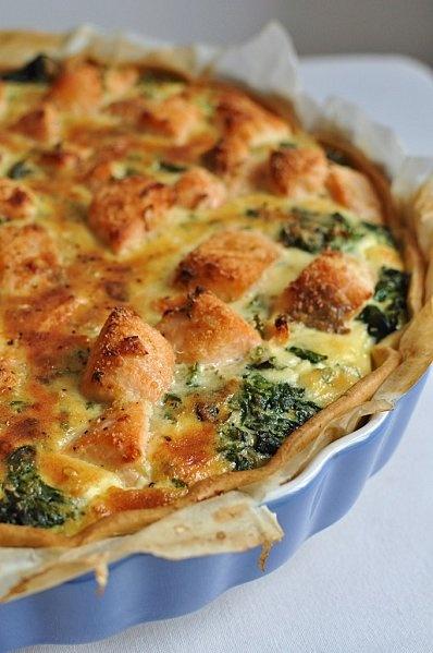 Tarte saumon et épinards - Blog de cuisine créative, recettes / popotte de Manue