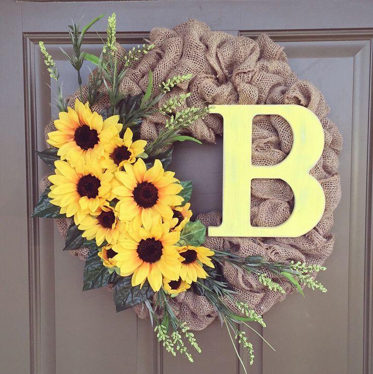 Burlap Sunflower Wreath                                                       …