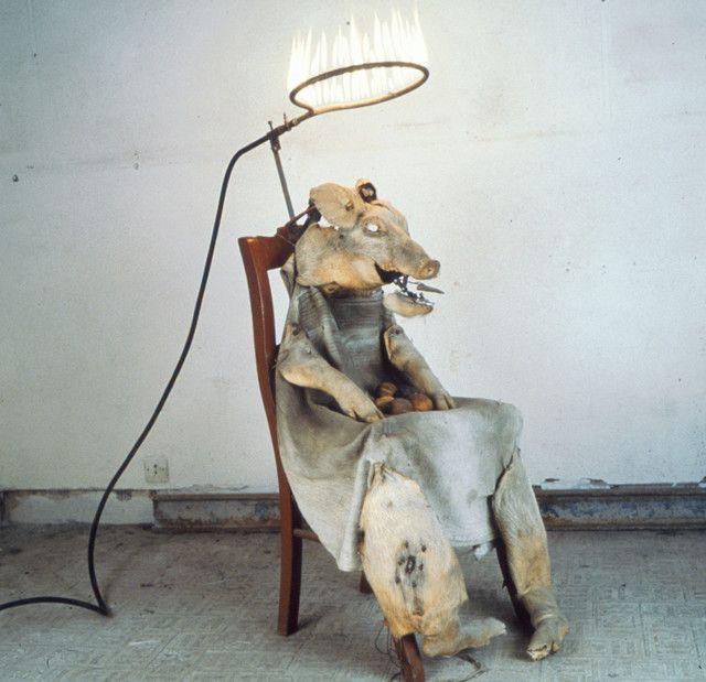 Le Roi cochon, 1992-2000, automate électromécanique