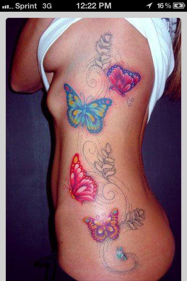 35 Seductive Hip Tattoo Designs for Girls - Heat the Floor   Seductive Butterfly Tattoos