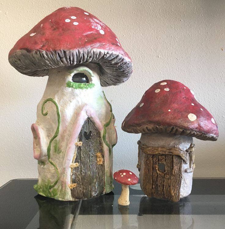 Fairy houses using jars and air dry clay