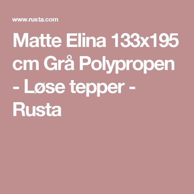 Matte Elina 133x195 cm Grå Polypropen - Løse tepper - Rusta