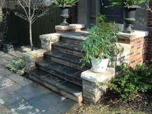 Bricks for front steps