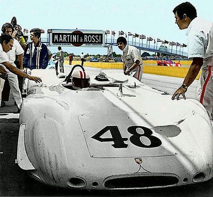 12H de Sebring 1970 : La Porsche 908/2 Flunder de L'Equipage Peter Revson / Steve McQueen, Qui termina à la seconde place.