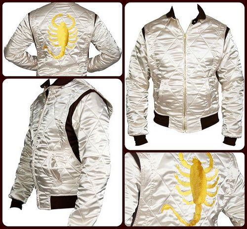 Drive Scorpion Ivory color - Ryan Gosling Men's Satin Jacket Handmade All Sizes. #Handmade #BasicJacket
