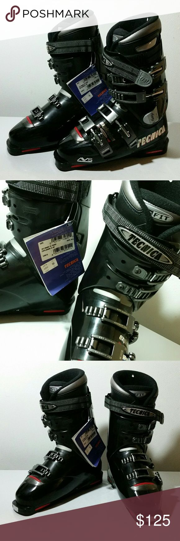 Men's Ski Boots Up for grabs are these NWT men's TECNICA Size US 7.5 Black Ski Boots. These are new without box, but they have a tag. Thanks for looking. Tecnica Other