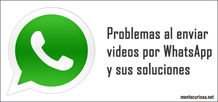 En este artículo explicaré los problemas frecuentes al enviar videos por WhatsApp y sus soluciones y si el problema no tiene solución al menos explicar la razón del problema. Otros temas que te podría ser de interés: Como ver la clave de mi WiFi en mi celular Como recuperar la señal de mi celular Por WhatsApp no se