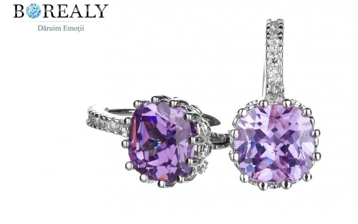 Cercei 3 Carate Sapphire Lilac by Borealy http://www.borealy.ro/bijuterii/cercei/cercei-3-carat-lilac-sapphire-crystallizedtm-swarovski-elements.html
