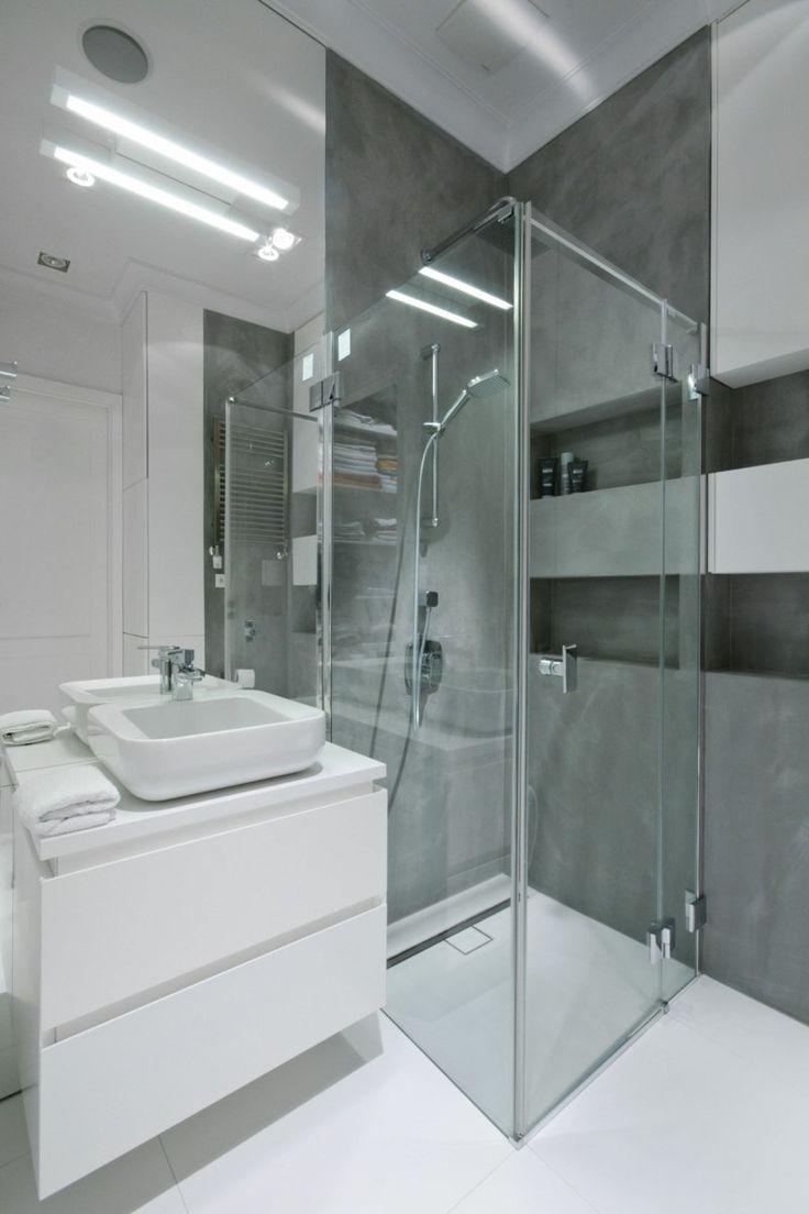 die besten 25+ grau weißes badezimmer ideen auf pinterest - Badezimmer Olivgrn