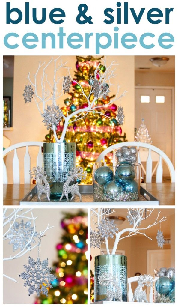 16 best Blue and Silver Holiday Decorating images on