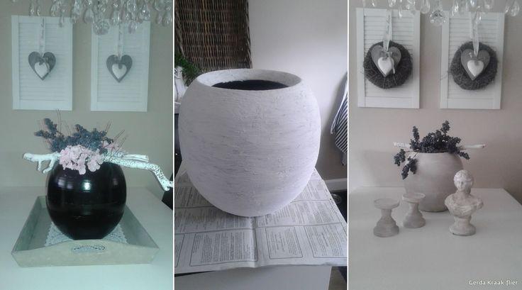 vaas bewerkt met muurvuller