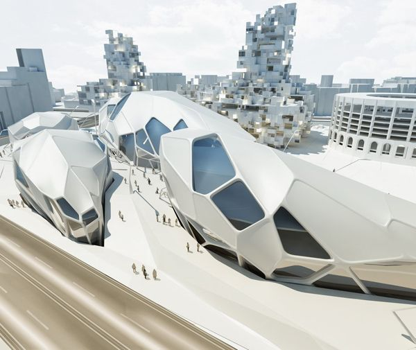 """Biomimicry - Nympha Cultural Center for future Bucharest / upgrade.studio 