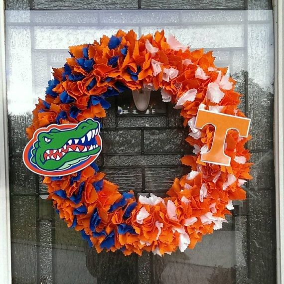 Florida Gators vs Tennessee Vols House Divided Wreath  https://www.etsy.com/listing/217242102/florida-gators-vs-tennessee-vols-wreath