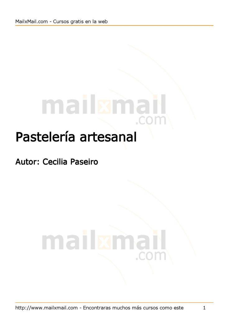 Pasteleria Artesanal  Manual de Pasteleria Artesanal