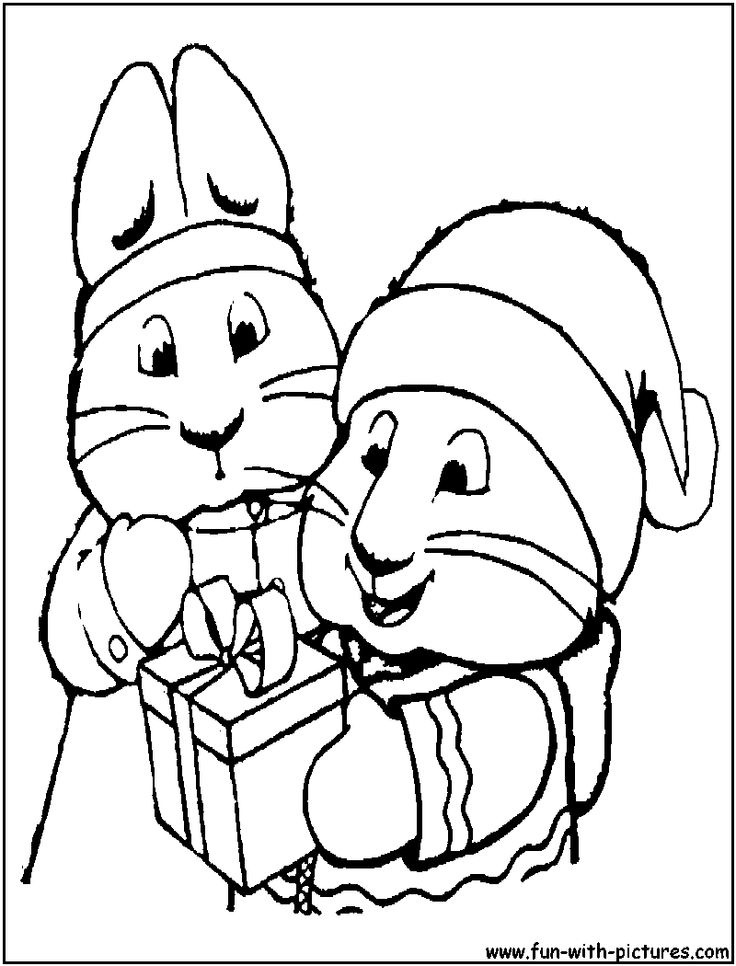 Max And Ruby Christmas Coloring Page