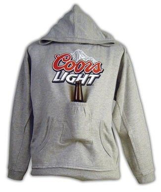 Coors Light Full Color Logo Beer Pouch Hoody at Brew City online.