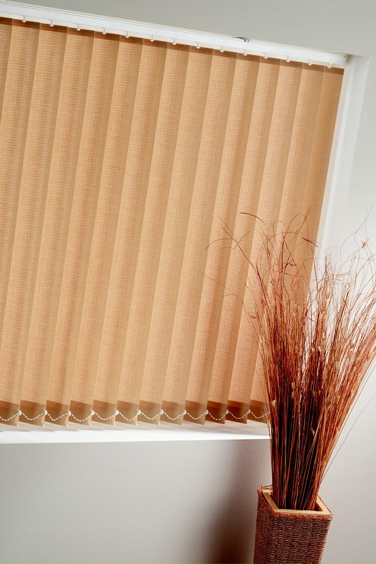 Vertical blinds enhance sliding doors and larger windows into stylish - Beige Vertical Blind