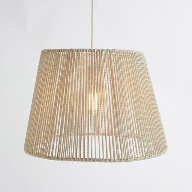 Décor Your Exterior With The Latest Contemporary Outdoor Pendant Lighting:  Woven Pinstripe Outdoor Pendant ~