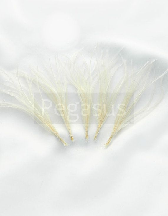 IVORY Ostrich Feather Sprays. Cruelty free DIY by pegasus22, $4.50