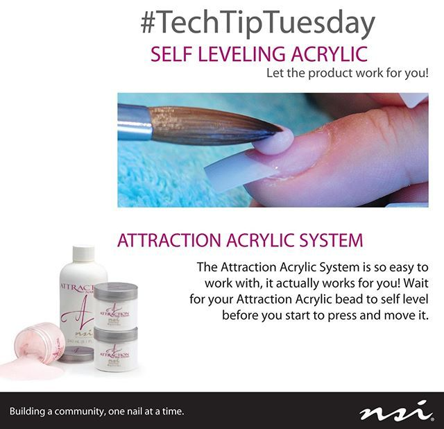 Techtiptuesday Our Self Leveling Attraction Acrylic System Is Amazing Let Our Product Work For You Acrylic Nail Powder Professional Nails Powder Nails