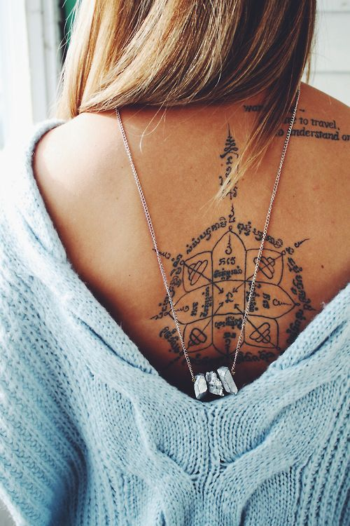 Compass tatoo.