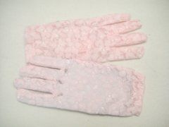 Lace Glove Short - Pink