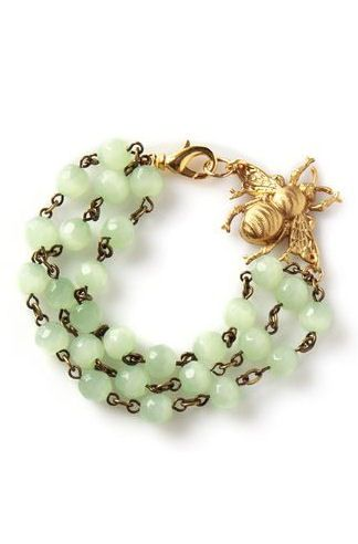 Never Forget You Bracelet ♥ #mint #jade #bee  LOVE LOVE the bumble bee!