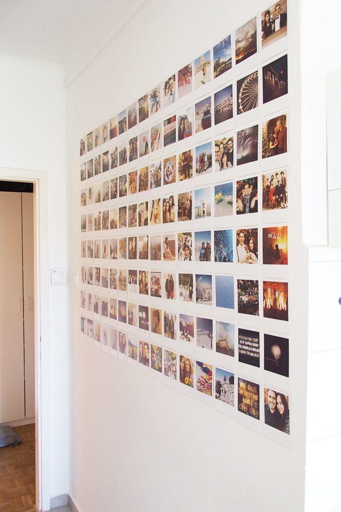 Diy Photo Wall Idea Wall Hanging Photo Walls Bedroom Polaroid