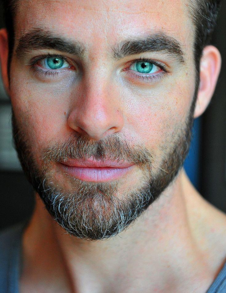 Chris Pine. Just look at those eyes..............