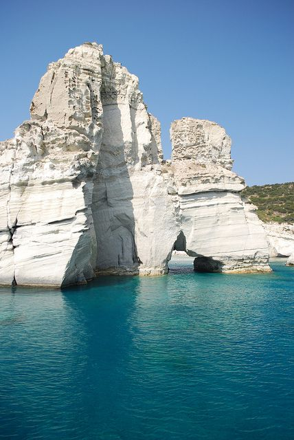 Kleftiko beach, Milos , Greece <3