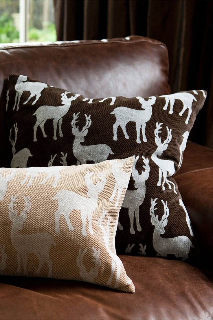 Buy Home Decor Online - Vases & Candlelight, Picture frames, Wall Art, Cushions, Throws, Window dressing, Decorative accents - Deer Square Cushion - EziBuy New Zealand