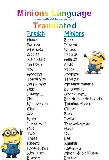 Capire il linguaggio dei minions