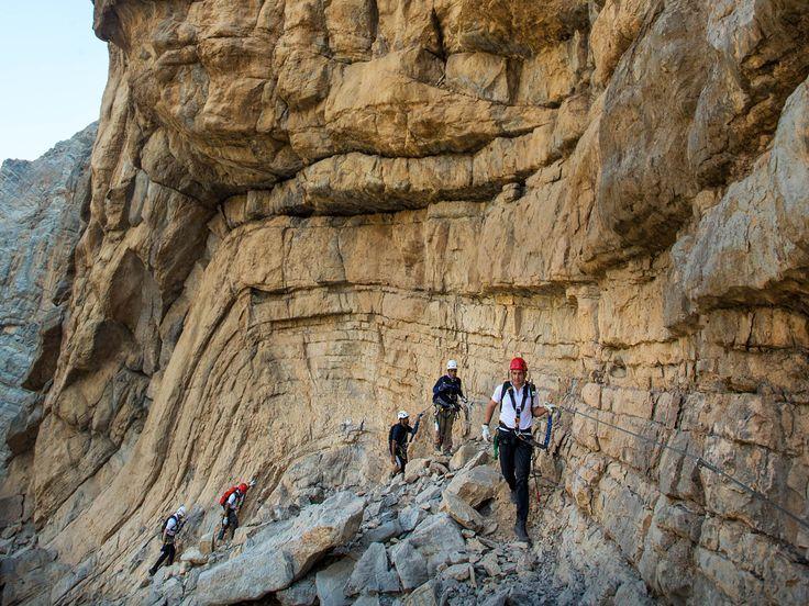 Jebel Jais' rugged peak.  Ras al Khaimah Tourism Development Authority