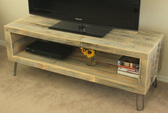 Media Console / TV Stand (Baker Collection)  • Dimensions: 36L x 17W x 24H • Solid reclaimed wood construction • 2 1/2 port holes predrilled in back