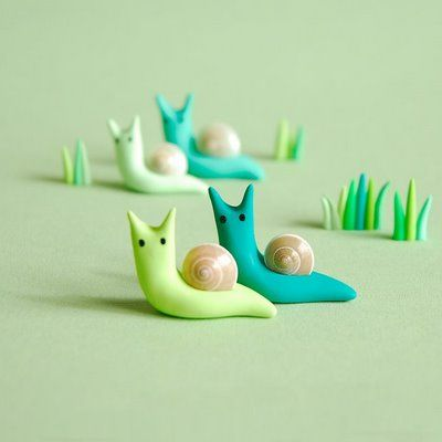 Polymer snails, and many other cute animals and things