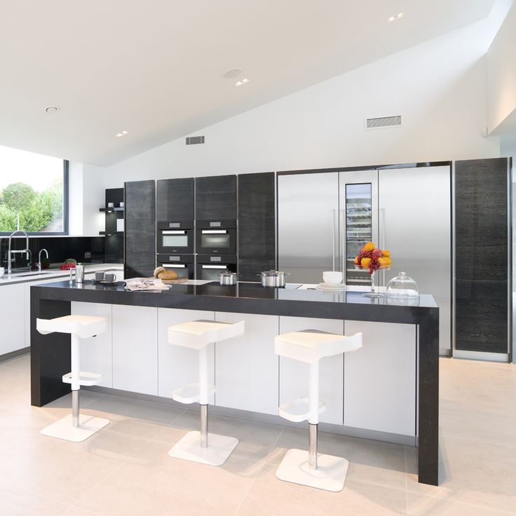 High Gloss Terra Oak And Brilliant White. The Worktops Have Been Designed  With Blanco Zeus