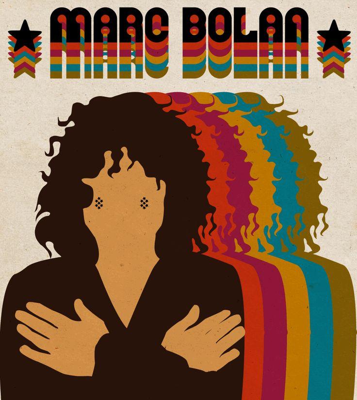 Is it strange to dance so soon?  Marc Bolan was born on September 30, 1947, in East London. || Designed by Nefeli Tsalta ||