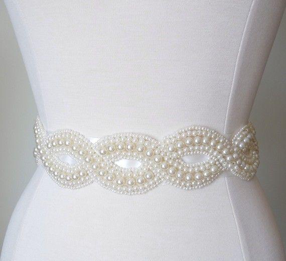 Pearl Bridal Sash