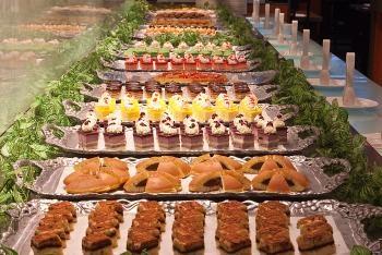 The dessert buffet at Ichi Umi restaurant in New York