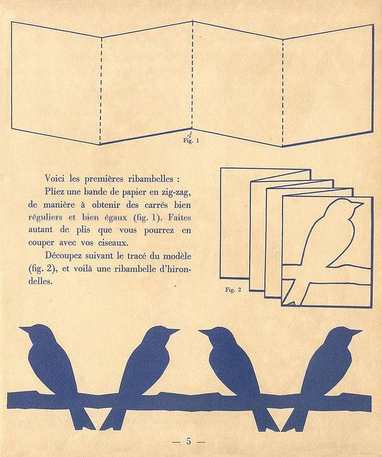 birds on a branch--lots of great vintage paper cuts in these scans from pillpat via Flickr #paper #vintage #birds