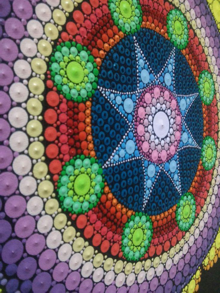 Natalia Richetti centro de mandala, #mandala #mandalas #art #dot # meditacion #estrella #simbolo #artmandala