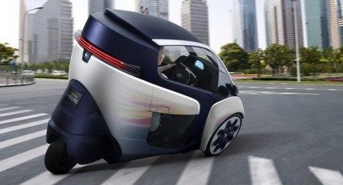 voiture lectrique toyota i road un vehicule electrique trois roues voitures lectriques. Black Bedroom Furniture Sets. Home Design Ideas