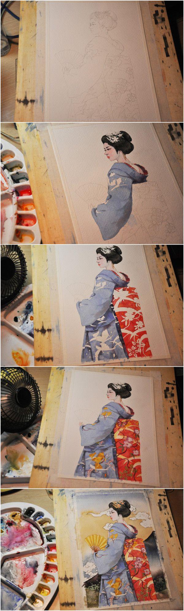 Watercolor - Ah jimmy__ Graffiti Kingdom illustrator