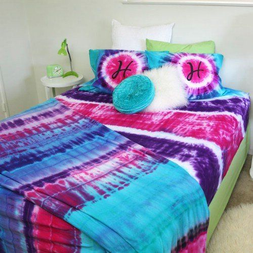 17 best ideas about tie dye bedding on pinterest tie dye for Tie dye room ideas