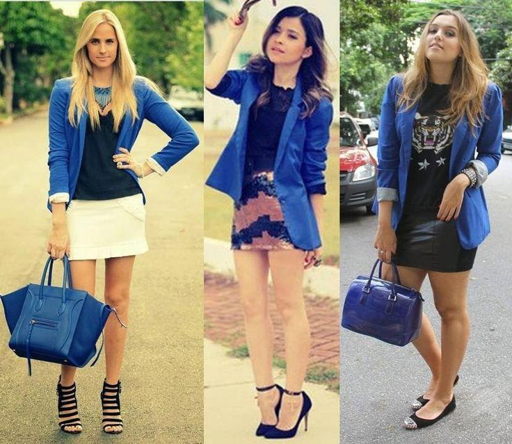 Uma peça, vários looks: Blazer azul