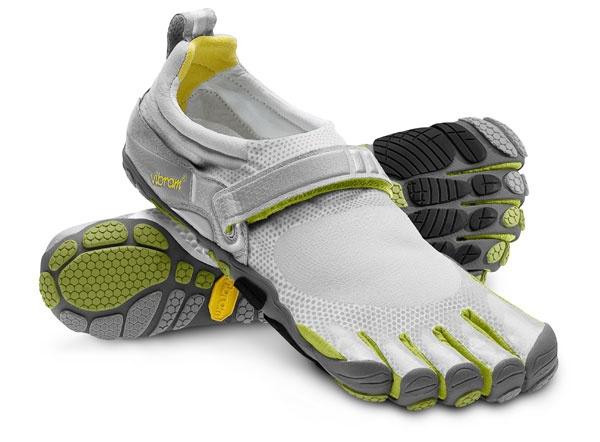 Barefoot running.