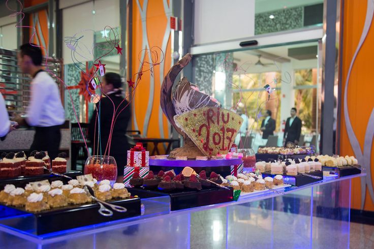 Dessert buffet at Riu Yucatan New Year's Eve party - All Inclusive hotel in Playa del Carmen, Mexico.