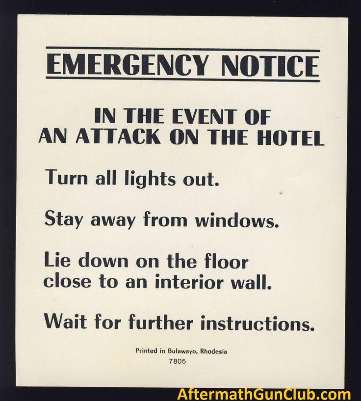 Hotel Sign. Bulawayo. Life in Rhodesia after UDI