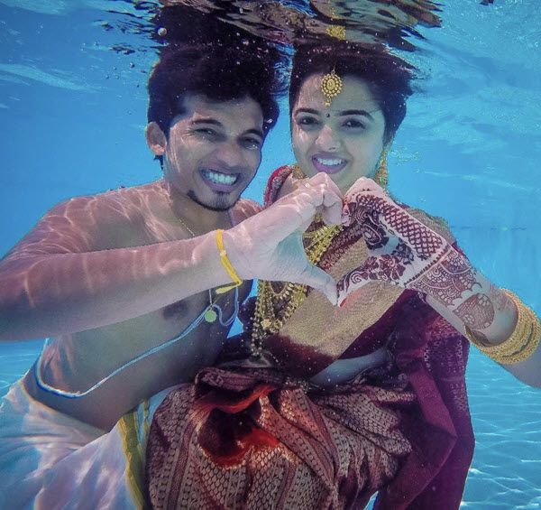 Top 15 Underwater Wedding Photoshoot Pictures Viral On Internet Wedlockindia Com In 2020 Underwater Wedding Pre Wedding Shoot Ideas Pre Wedding Photoshoot